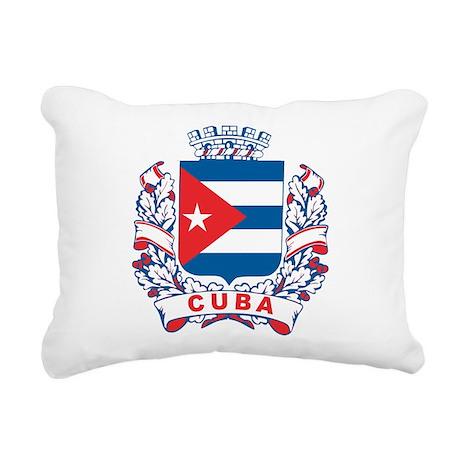Cuba Crest Rectangular Canvas Pillow