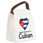Happily Married To A Cuban Canvas Lunch Bag