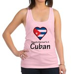 Happily Married To A Cuban Racerback Tank Top
