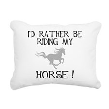 id rather be riding my horse .jpg Rectangular Canv
