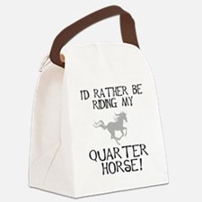 id rather be riding my quarter horse a.jpg Canvas