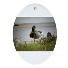 2 Ducks Oval Ornament