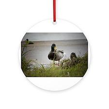 2 Ducks Ornament (Round)