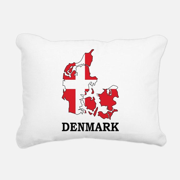 Denmark Map Rectangular Canvas Pillow