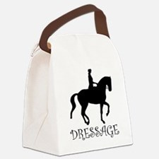 dressage curly singl.png Canvas Lunch Bag