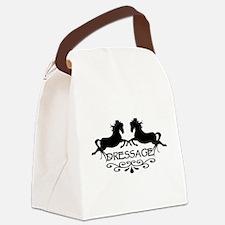 black capriole horses Canvas Lunch Bag