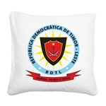 East Timor Coat Of Arms Square Canvas Pillow
