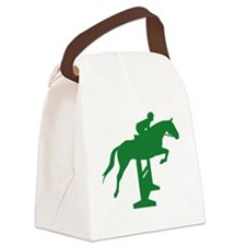 hunter jumper fence green.png Canvas Lunch Bag