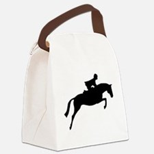 jumper rider white.png Canvas Lunch Bag