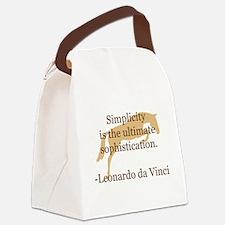 Cute Da vinci Canvas Lunch Bag
