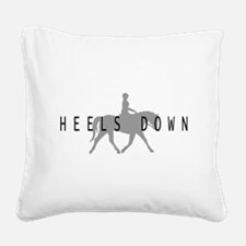 heels down horse rider.png Square Canvas Pillow