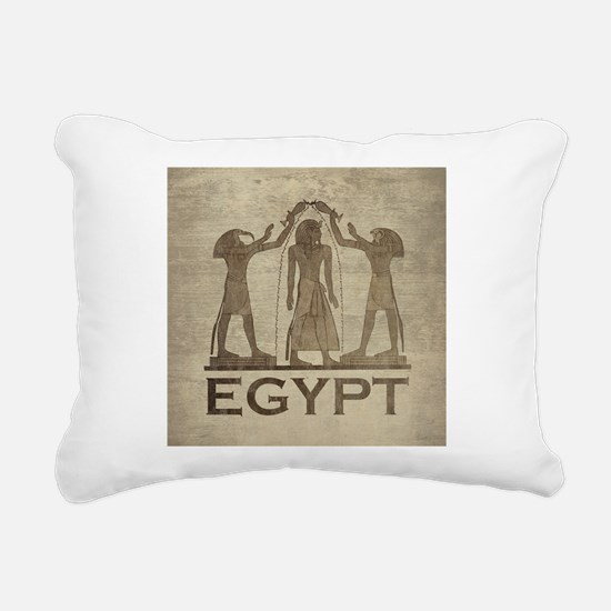 Vintage Egypt Rectangular Canvas Pillow