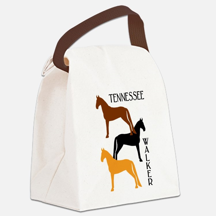 three tennessee walkers colors.png Canvas Lunch Ba