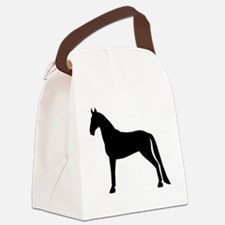 tennessee walking horse white.png Canvas Lunch Bag
