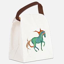 mosaic horse Canvas Lunch Bag