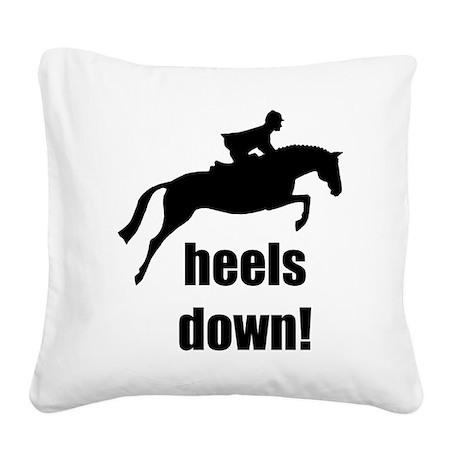 heels down jumper horse.jpg Square Canvas Pillow