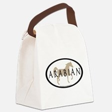 arabian horse oval text tan.png Canvas Lunch Bag