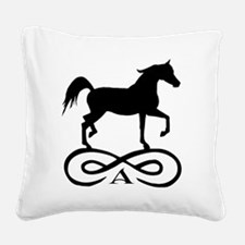 infinity arabian black.png Square Canvas Pillow