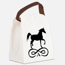 infinity arabian black.png Canvas Lunch Bag
