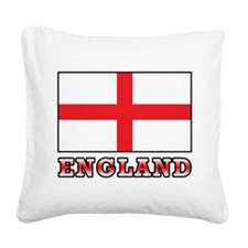 England Square Canvas Pillow