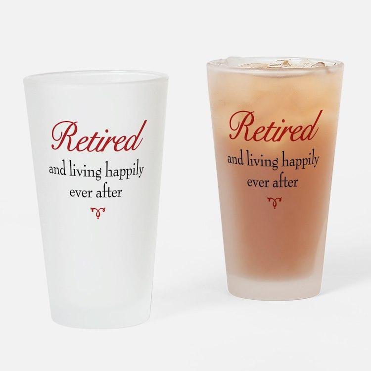 Happy Retirement Drinking Glass