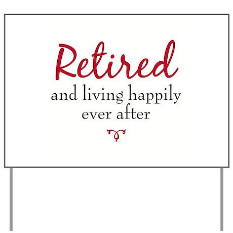 happy retirement yard sign by ryebreadretire