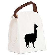 alpaca 22 black.png Canvas Lunch Bag