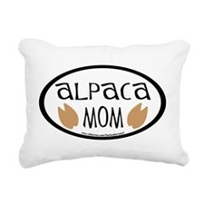 alpaca mom oval.png Rectangular Canvas Pillow