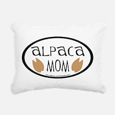 alpaca mom oval.png Rectangular Canvas Pillow