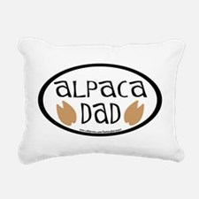 alpaca dad oval.png Rectangular Canvas Pillow