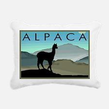 blue hills alpaca wd.jpg Rectangular Canvas Pillow