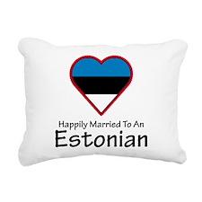 Happily Married Estonian Rectangular Canvas Pillow