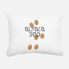 Alpaca Dad Rectangular Canvas Pillow