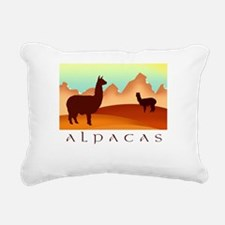 alpacas text mountains.png Rectangular Canvas Pill