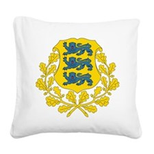 Estonia Coat Of Arms Square Canvas Pillow