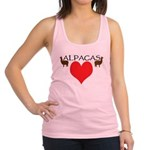 two alpacas heart color.png Racerback Tank Top