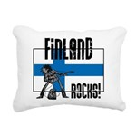 Finland Rocks Rectangular Canvas Pillow