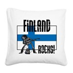 Finland Rocks Square Canvas Pillow