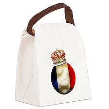 Cute France soccer Canvas Lunch Bag