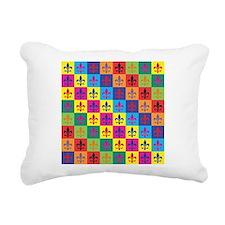 Pop Art Fleur De Lis Rectangular Canvas Pillow