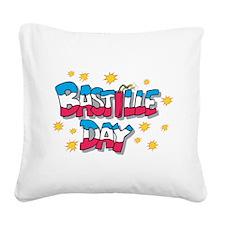 Bastille Day Square Canvas Pillow