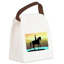 Dressage By The Sea Canvas Lunch Bag
