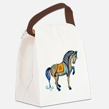 Tang Horse Two Canvas Lunch Bag