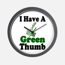 I Have A Green Thumb Wall Clock