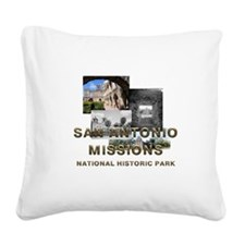 ABH San Antonio Missions Square Canvas Pillow