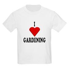 I Love Gardening Kids T-Shirt