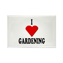 I Love Gardening Rectangle Magnet