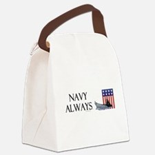 Navy Always Canvas Lunch Bag