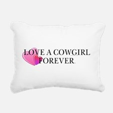 cowgirllovebcap.png Rectangular Canvas Pillow