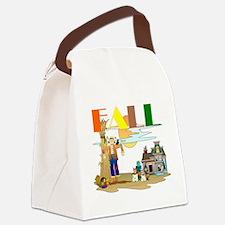 Fall Slogan Canvas Lunch Bag